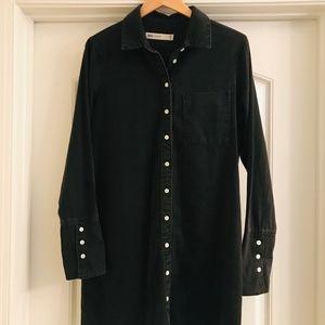 NWOT...ASOS black denim dress size: UK 14
